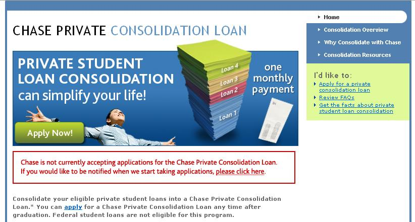 Chase Bank Suspends Private Student Loan Debt Consolidation